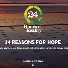 Watch Live: 24 Hours of Reality