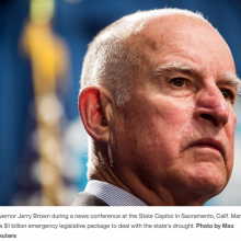 Jerry Brown on California drought: 'Climate change is not a hoax'