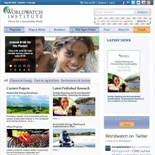 Featured Ally Website: Worldwatch Institute
