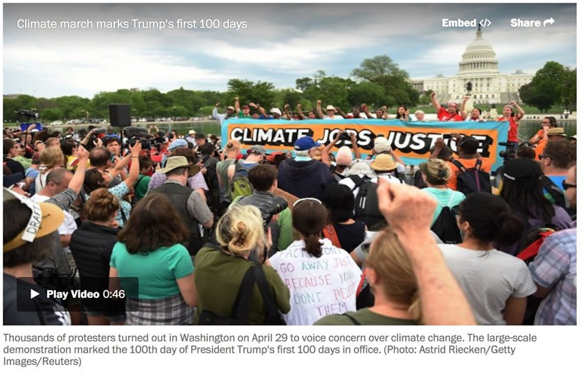 Climate March draws massive crowd to D.C. in sweltering heat