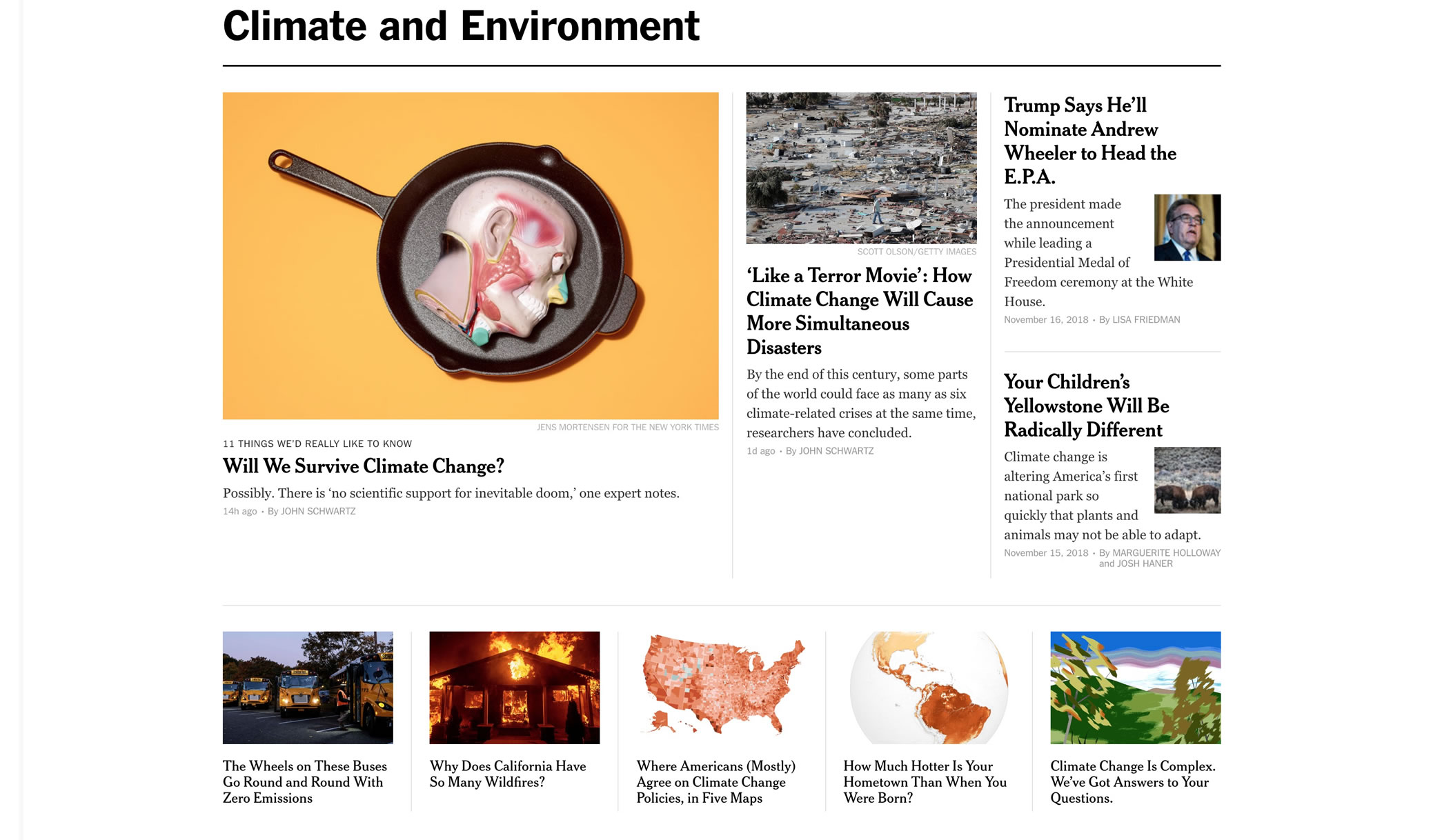 Climate and Environment Section