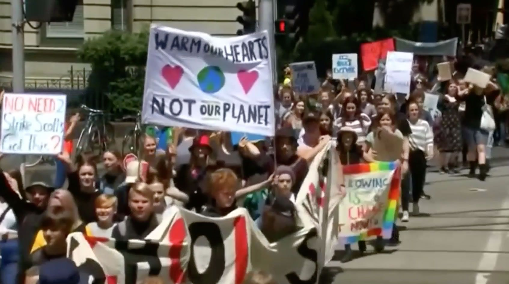Australian kids walk out of school to protest climate inaction