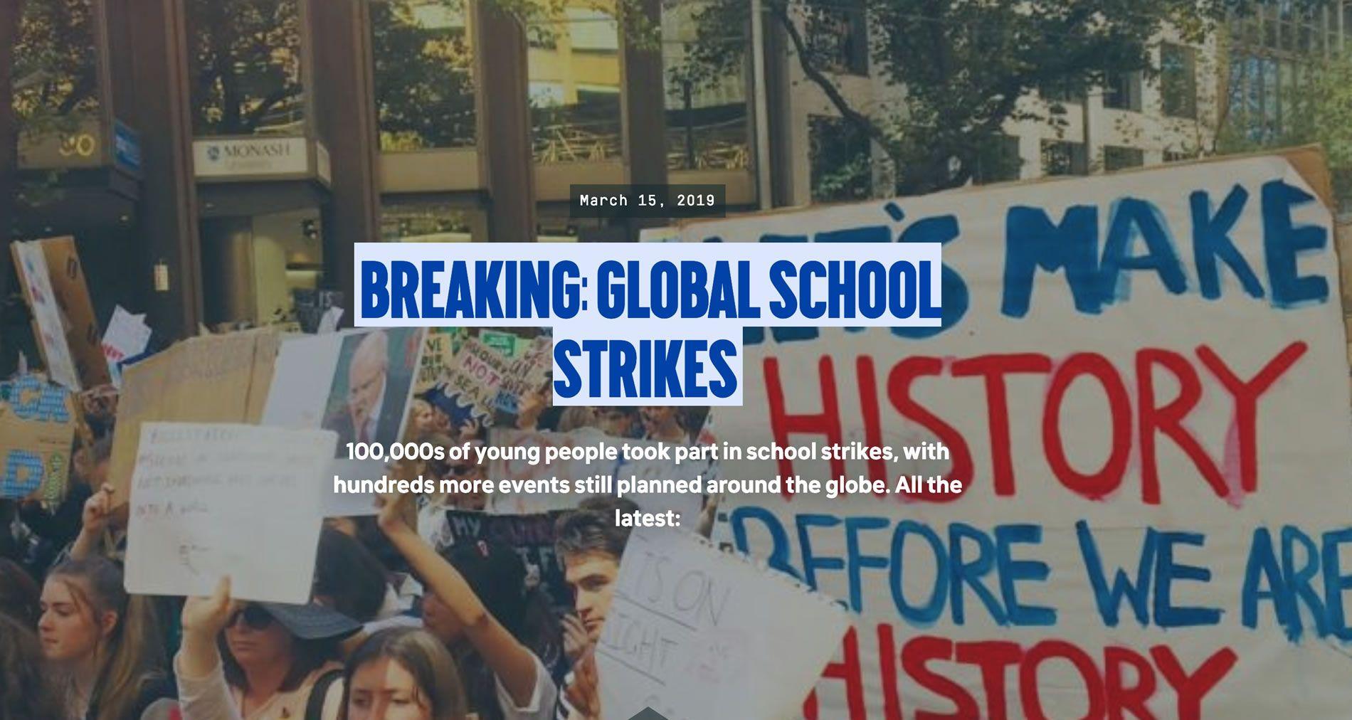 Breaking: Global School Strikes