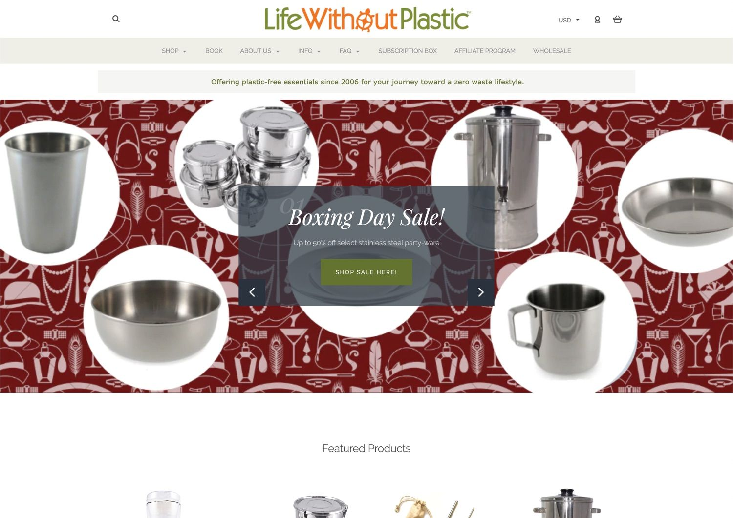 Life without plastic website