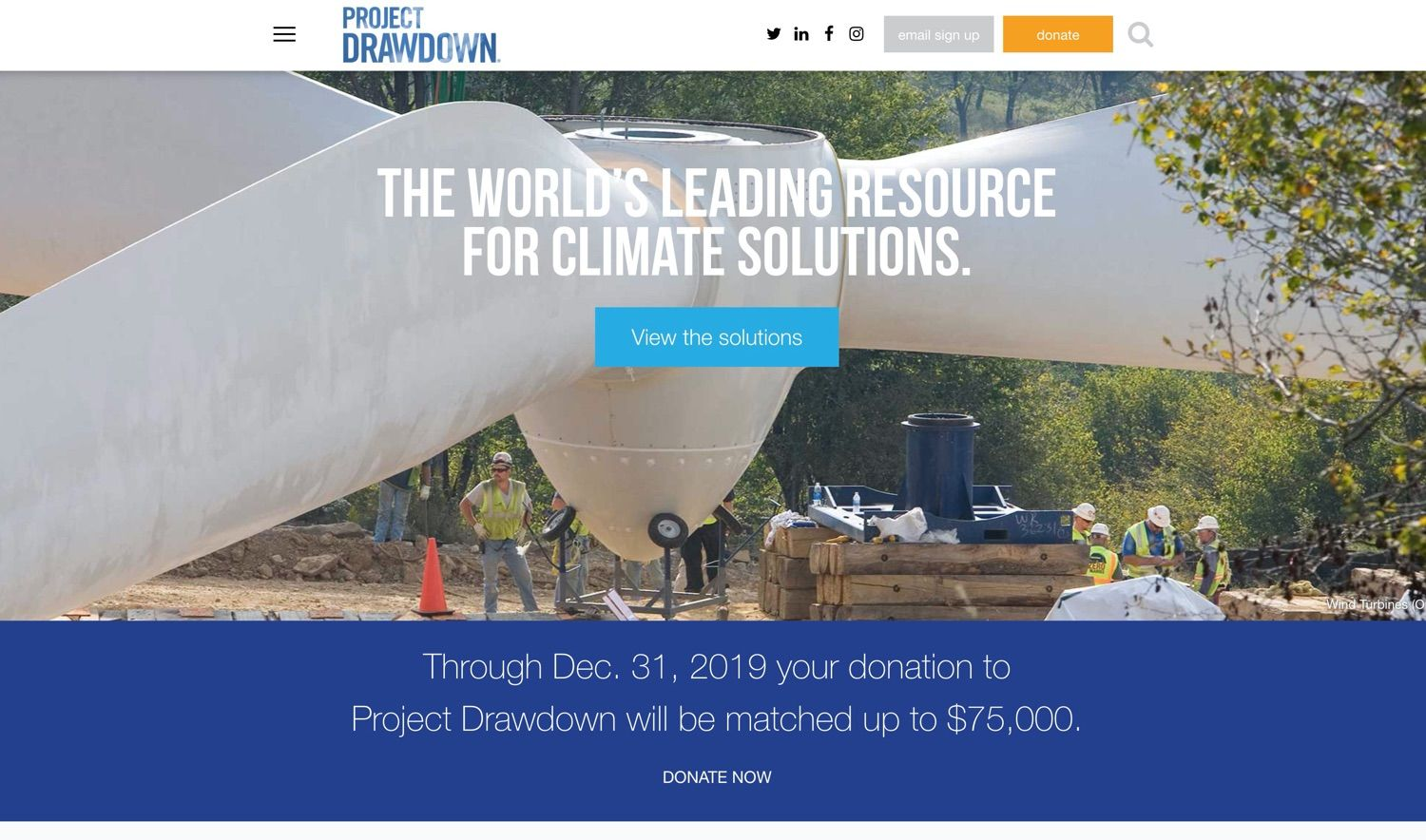 The world's leading resource for climate solutions.
