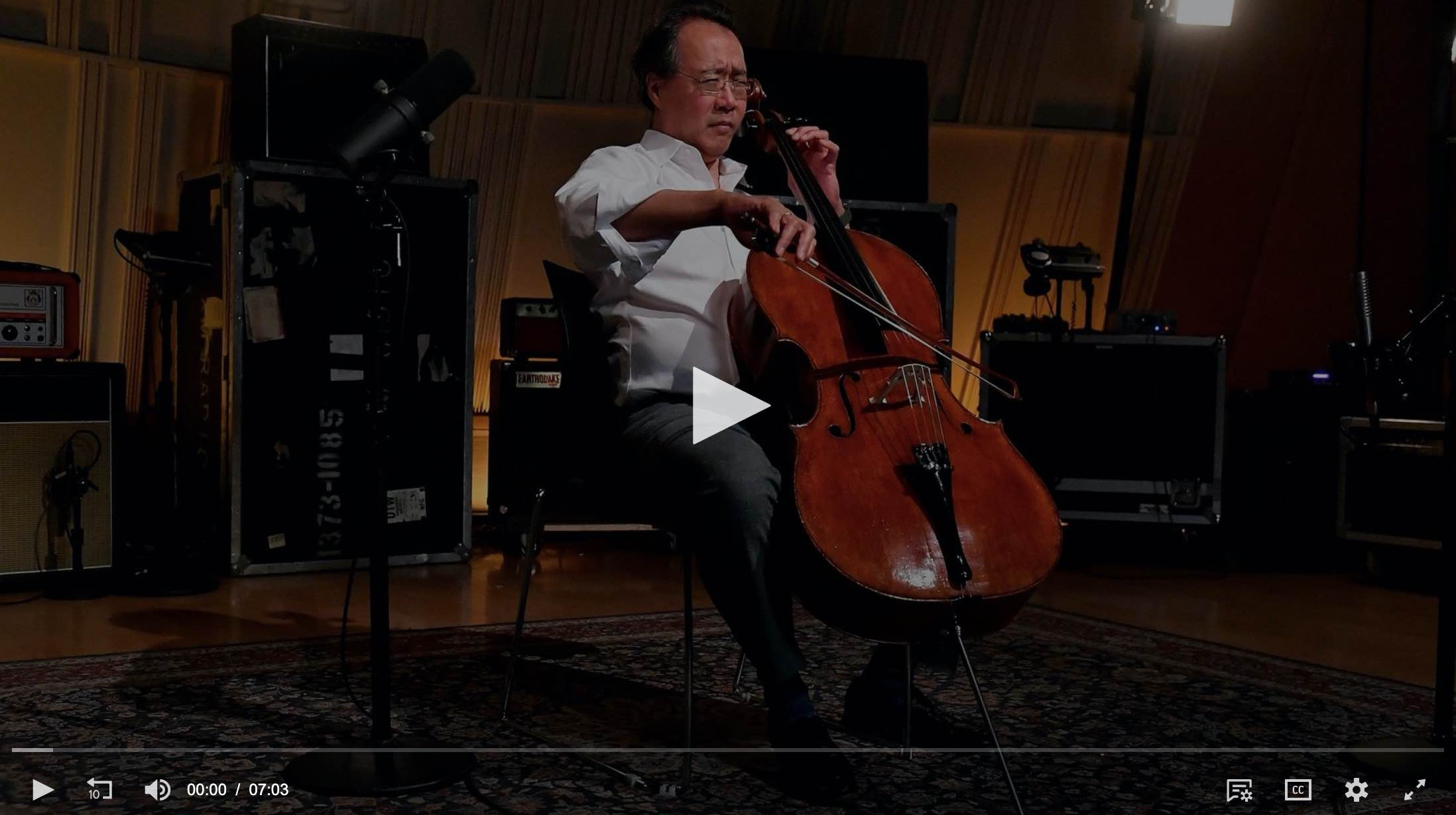 Yo-Yo Ma encourages 'Songs of Comfort' amid global crisis