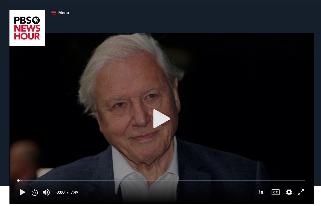 Amid planet's crisis, filmmaker Sir David Attenborough's 'vision for the future'